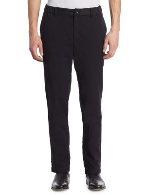 Issey Miyake Straight Fit Pants In Black