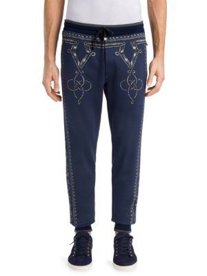 Dolce & Gabbana Printed Cotton Sweatpants In Multi
