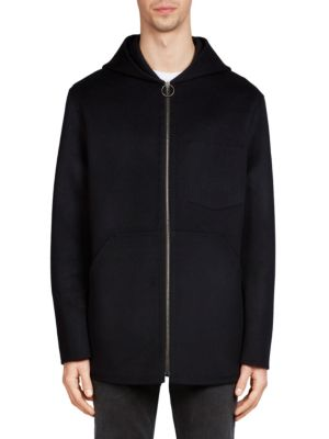 Acne Studios Maua Hooded Jacket In Navy