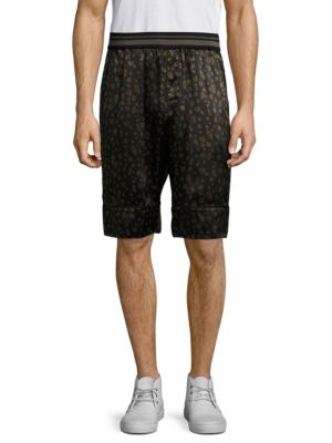 3.1 Phillip Lim Reversible Leopard Souvenir Shorts In Black