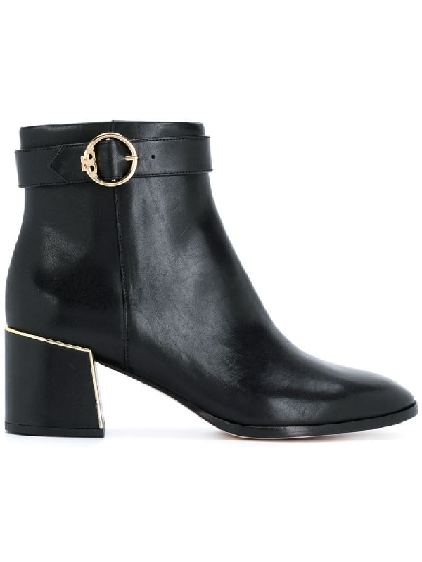 Tory Burch Sofia Leather 60mm Dress Bootie In Black