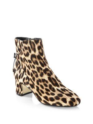 543df0cb783d Tory Burch Laila Leopard Print Calf Hair Booties | ModeSens