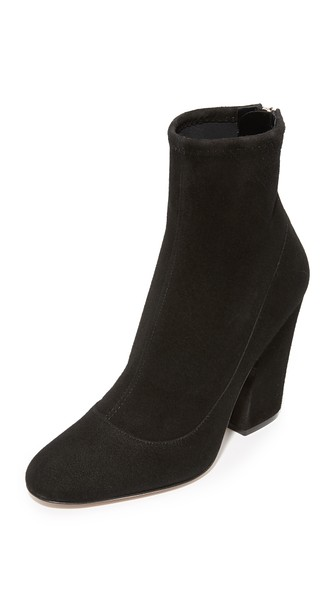 Sergio Rossi Sock Style Ankle Boots In Nero