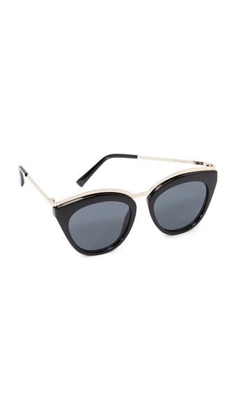 Le Specs Women's Eye Slay Cat Eye Sunglasses, 52mm In Black/smoke Mono