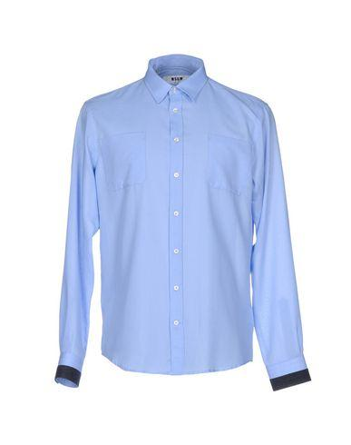 Msgm Solid Color Shirt In Sky Blue