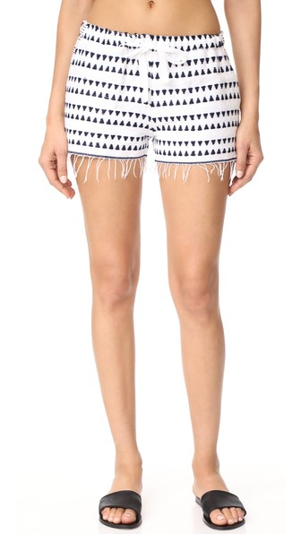Lemlem Yeshi Cotton-blend Gauze Shorts In Navy