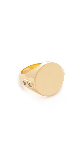 Elizabeth And James Serra Signet Ring In Yellow Gold