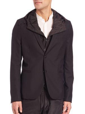 The Kooples Wool Blazer In Black