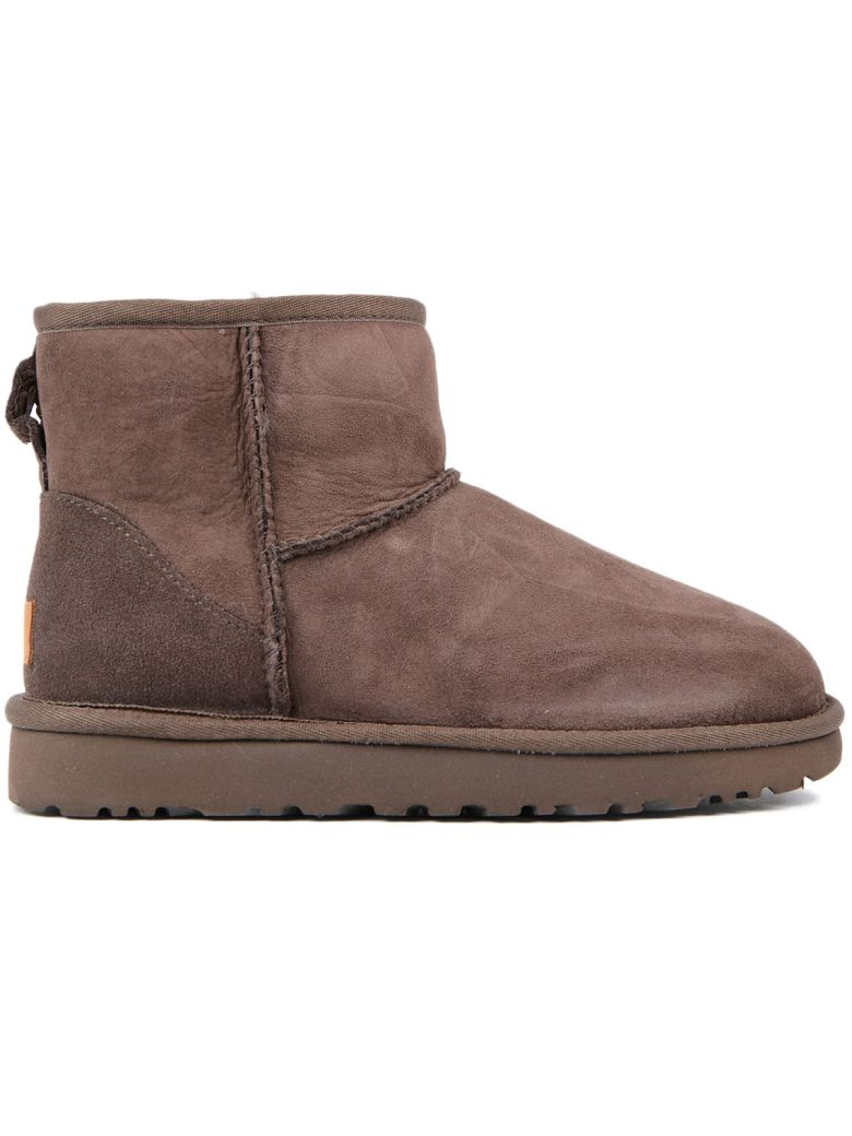 Ugg Classic Ankle Boots In Brown