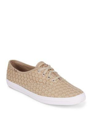 Keds Textured Low-top Sneakers In Khaki