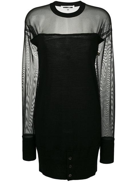 Mcq By Alexander Mcqueen Mcq Alexander Mcqueen Sheer Dress - Black