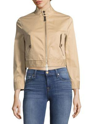 Dsquared2 Casual Zip Jacket In Beige