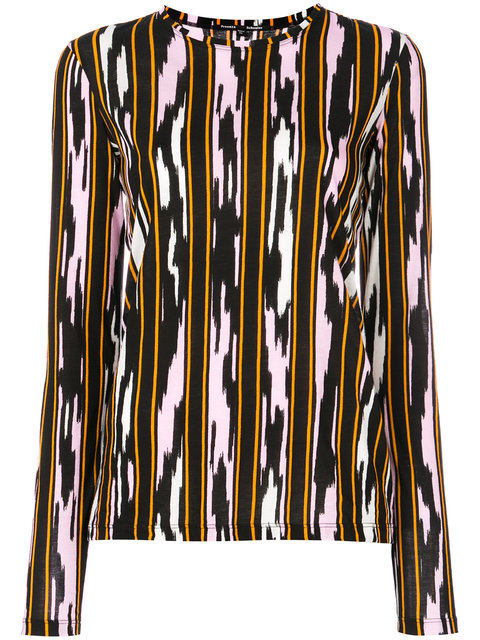 Proenza Schouler Printed Long Sleeve T-shirt In Multicoloured