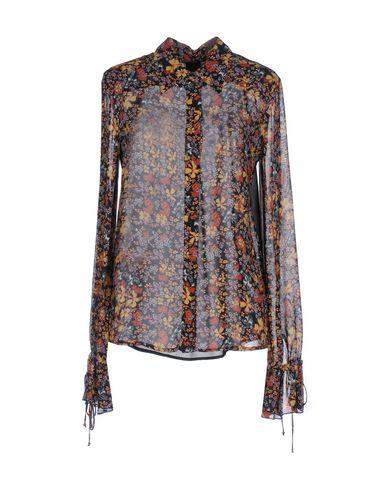 Pinko Floral Shirts & Blouses In Black