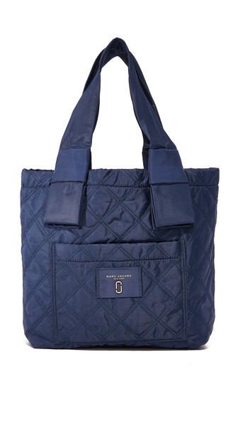 Marc Jacobs Nylon Knot Small Tote In Midnight Blue