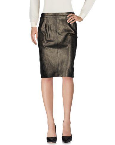 Belstaff Knee Length Skirt In Steel Grey