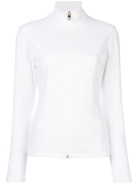 Fendi Fitted Zip Front Jacket - White