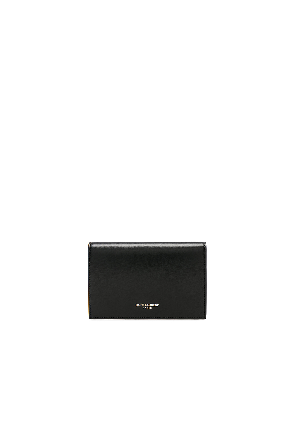 Saint Laurent Fragments Flap Wallet In Black & Black