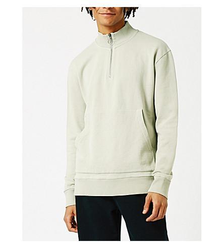 Topman Ltd Oversized Cotton-jersey Sweatshirt In Grey