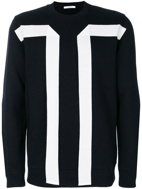 Givenchy Flying Bands Crewneck Sweatshirt In Nero