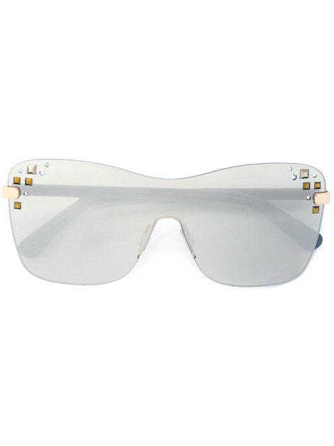 Jimmy Choo Mask Sunglasses In Grey