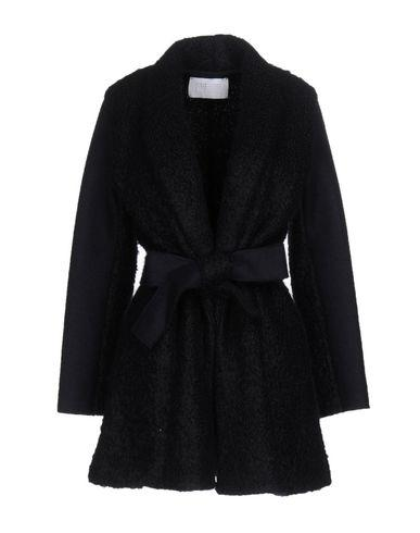 Harris Wharf London Belted Coats In Dark Blue