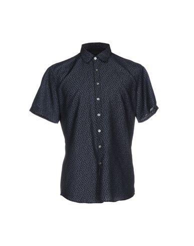 John Varvatos Patterned Shirt In Slate Blue