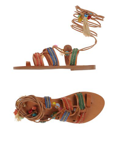 Elina Linardaki Sandals In Brown