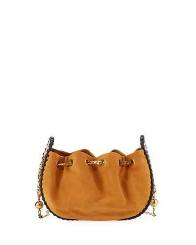 8328790ec Marc Jacobs Sway Suede & Embossed Leather Crossbody In Brulee | ModeSens