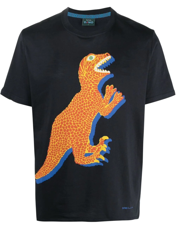 Paul Smith Dino-print Short-sleeved T-shirt In Blue