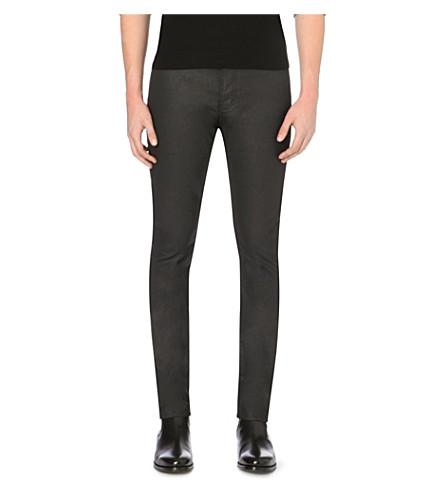 9a385ca87ab The Kooples Slim-Fit Skinny Mid-Rise Coated Stretch-Denim Jeans In Black
