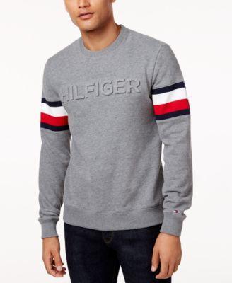 gemme bedst salg Tommy Hilfiger Men's Everest Logo Sweatshirt in Midway Grey Heather