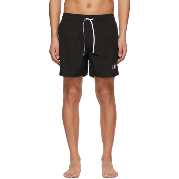 Amiri Logo-embroidered Swim Shorts In Black