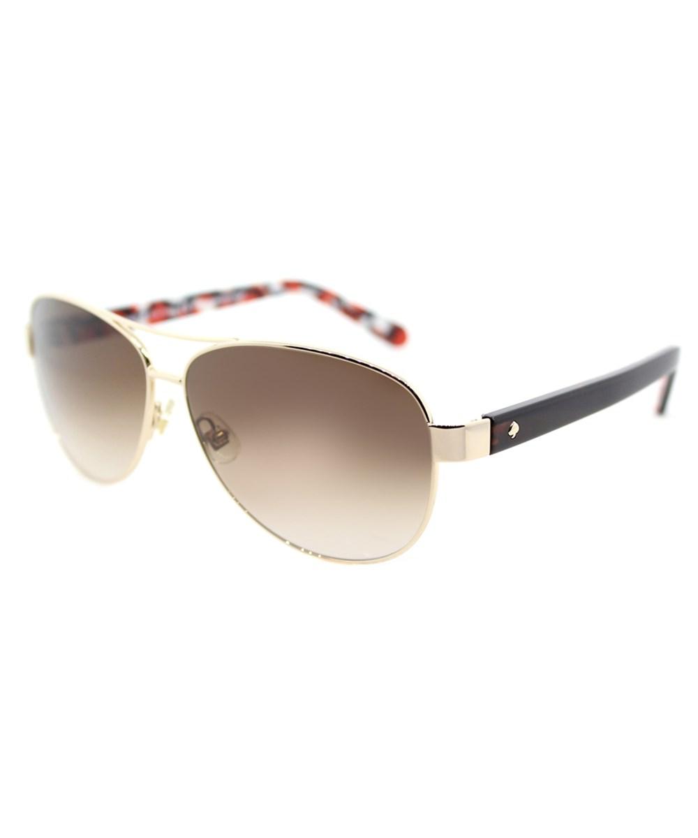 41cec9806f2d7 Kate Spade Dalia Aviator Sunglasses In Gold Dots