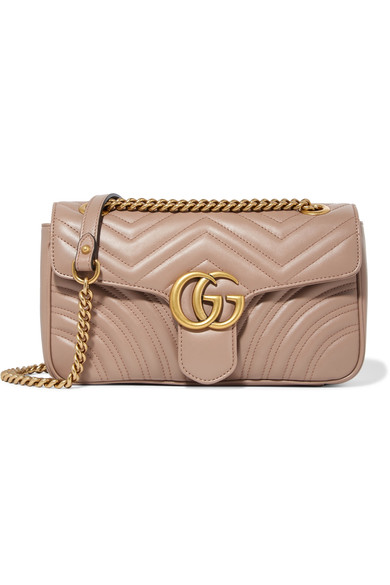 8cd599d0616 Gucci Gg Marmont Small Quilted Leather Shoulder Bag In Antique Rose ...