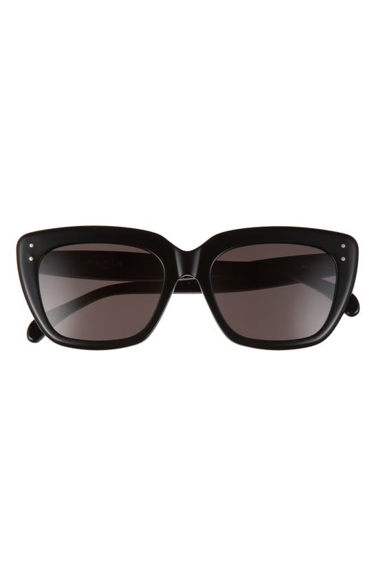 Alaïa 54mm Square Sunglasses In Black/ Grey