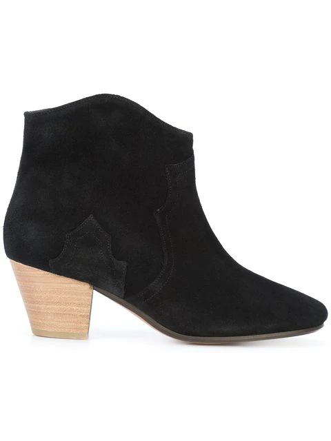 Isabel Marant ÉToile Dicker 55Mm Suede Ankle Boots In Black Suede