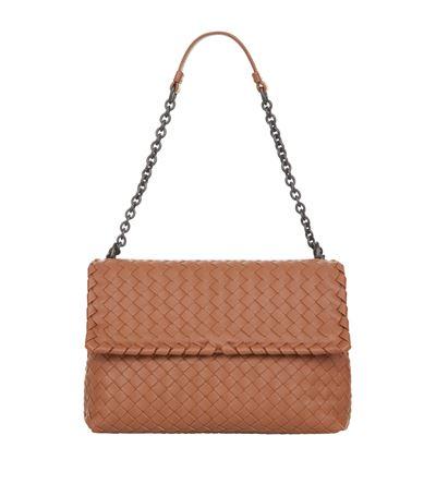 Bottega Veneta Small Olimpia Intrecciato Leather Chain Shoulder Bag In Toscana