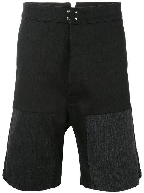 Raf Simons Denim Workwear Shorts In 00099 Black