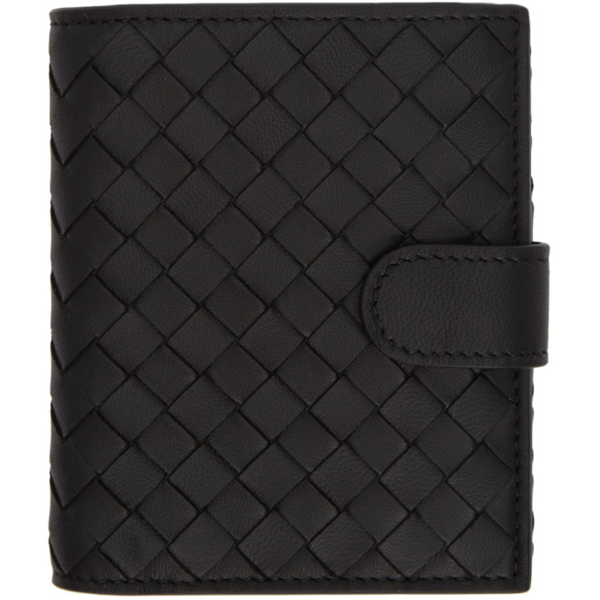 Bottega Veneta Intrecciato Card Holder And Zip-Around Wallet In Black
