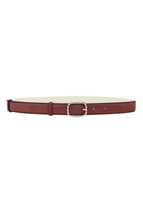 Nina Ricci Suede Belt In Purple