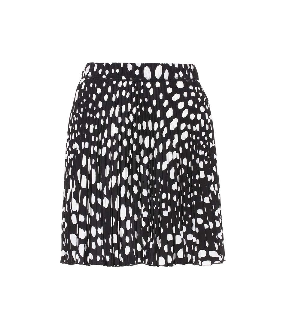Marc Jacobs Printed Silk Skirt In Black