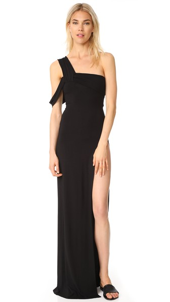 4589ac0d0ce Baja East One Shoulder Dress In Dark Grey | ModeSens