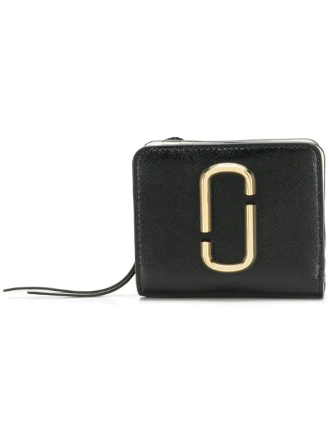 Marc Jacobs The Mini Snapshot Black Leather Wallet
