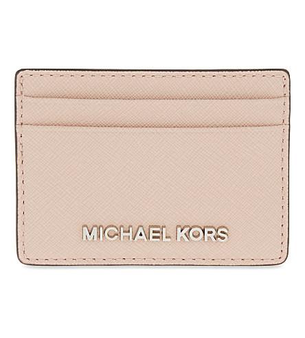 d621f77c7541a5 Michael Michael Kors Jet Set Travel Leather Card Holder In Ballet ...
