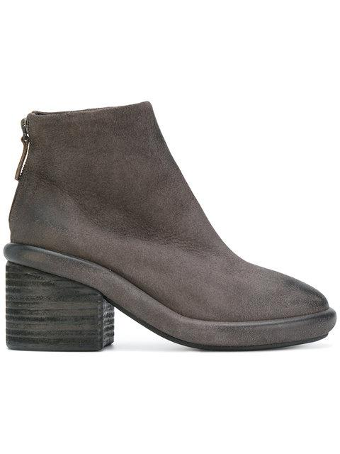MarsÈLl Mid Heel Ankle Boots In Grey
