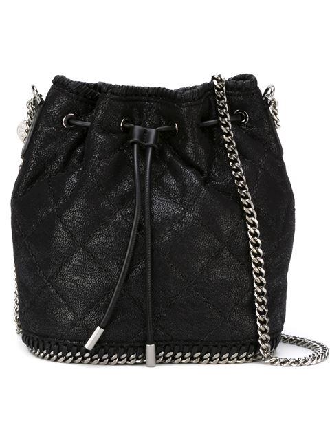 Stella Mccartney Falabella Bucket Bag In Black