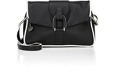 Delvaux Givry Pm Shoulder Bag In Black
