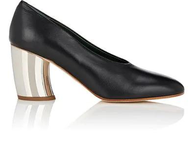 Proenza Schouler Curved-Heel Leather Pumps - Black