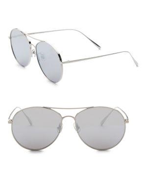 2fffcf38edc5 Gentle Monster Ranny Ring 57Mm Aviator Sunglasses In Silver